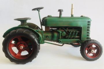 Classic VINTAGE GREEN TRACTOR FARM VEHICLE Model 27cm